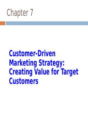 POM 7-1 Customer Driven Market Strategy.ppt