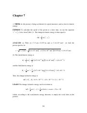 Halliday & Resnick 10th edition chapter 7 solutions