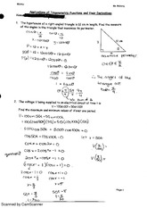 Applications of Trigonometric Functions Assignment