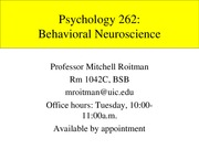 Behavioral Neuroscience lecture
