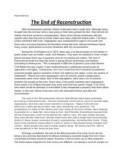 The end of Reconstruction.docx