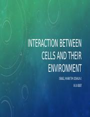 The Extracellular Space, Cellular Interaction and Signaling.pptx