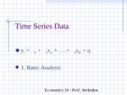 ch10Time Series Data-basic