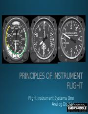 Unit 4 Flight Instrument Systems 1 - Analog Display
