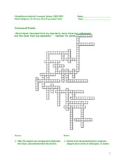 Monotheism-Judaism Crossword Spring 14