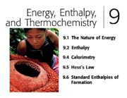 Ch 8 - Energy, Enthalpy, and Thermochemistry
