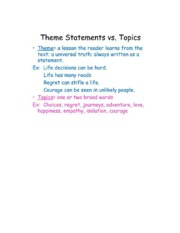 THEME-THESISStatements