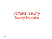 Security Evaluation