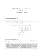 Discussion Notes 7_Solutions