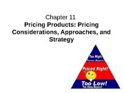 Chapter 11: Pricing Products