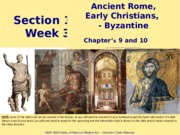 Ancient Rome, Early Christians Study Slides
