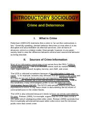 Crime and Deterrence Sociology.docx