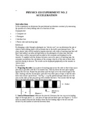 Lab 2 - Acceleration