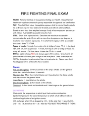 FIRE FIGHTING FINAL EXAM