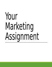 Your Marketing Assignment