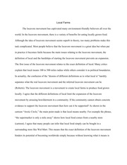 3 Pages Locavore Synthesis Essay