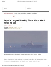 0929 Japan's Largest Warship Since World War II Takes To Sea - USNI News NP.pdf