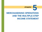 Lecture 4: Merchandising Operations