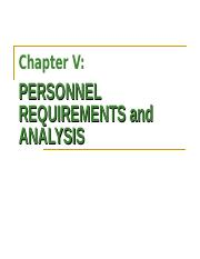 Chapter V Personnel Requirements and Analysis.ppt