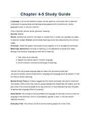 Chapter 4-5 study guide