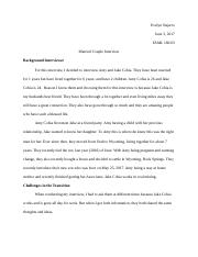 FAML 160  Married Couple Interview.docx