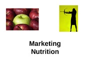 Marketing Nutrition Lecture Notes Spring 2014