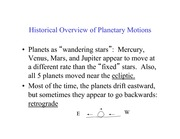 Lecture Notes on the History of Planetary Orbits