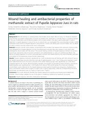 Wound healing and antibacterial properties of.pdf