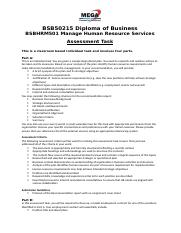 Final_Assignment_BSBHRM501 Manage Human Resource Services