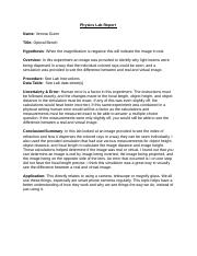 Physics lab report helper
