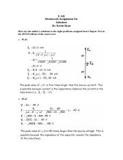 E 245 Homework Assignment 6; Chapter 5; 6th Edition; Solutions; Complete set of Chapter 5 problems.d