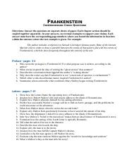 ansswers to questions frankenstein advanced placement in english rh coursehero com Frankenstein Chapter Questions and Answers Frankenstein Summary