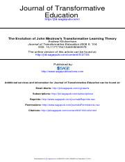 The Evolution of John Mezirow's Transformative Learning Theory.pdf