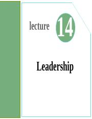 Lecture14- Leadership.ppt