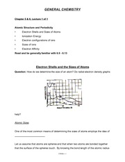 Chemistry Chapter 5&6 Lecture Notes