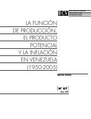 Production Function Venezuela