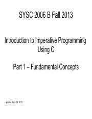 SYSC2006 Overview of C Language.pdf