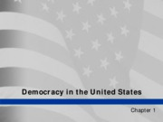 Chapter 1 - Democracy in the United States