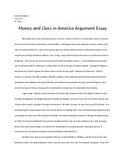 Money and Class in America Argument Essay