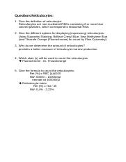 example question and answers reticulocytes.docx