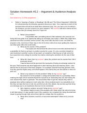 Olosky Solution Homework #5.2 -- Argument & Audience Analysis.docx