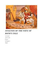 ANALYSIS OF THE WIFE OF BATH