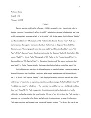 Poetry Analysis Research Paper