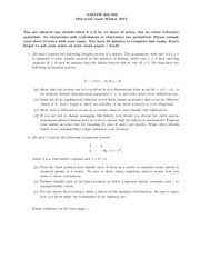 Exam Solutions on Different Vector Fields