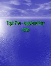 Topic Five – supplementary notes.pdf