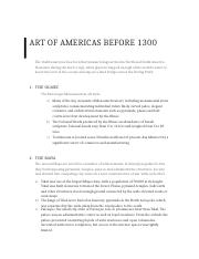 Art of Americas before 1300.docx