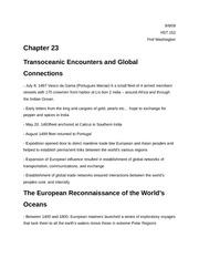 Encounters and Global Connections, notes