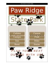 Paw Ridge Sales Proposal - ATV