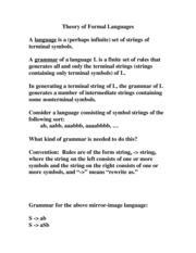 4Theory of Formal Languages
