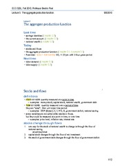 Lecture 5 Production function